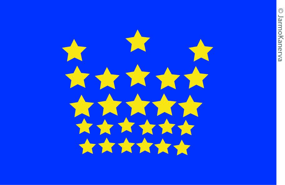EU:n Brysselin 'kruunun' lippu